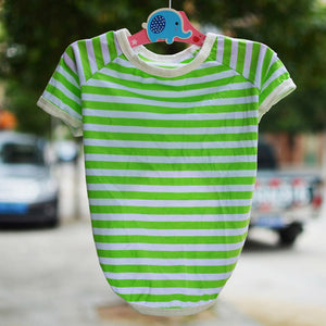 Striped Summer Weight T-shirt for Dogs - The Uppity Puppy