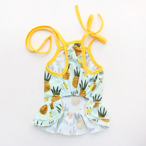 Pretty Pineapple Summer Sundress or T-Shirt for Dogs - The Uppity Puppy