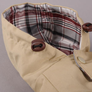 The Continental Belted Dog Trench Coat with Hood - The Uppity Puppy
