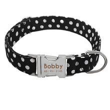 Personalized Polka Dot Dog Collar for Small, Medium & Large Dogs - The Uppity Puppy