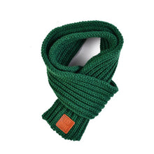 Soft Knitted Scarf in green for Medium & Large Dogs