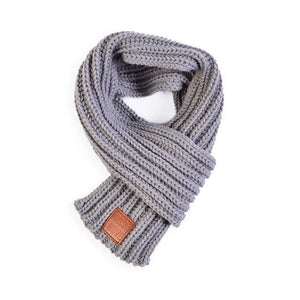Soft Knitted Scarf in gray for Medium & Large Dogs