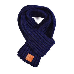 Soft Knitted Scarf in black for Medium & Large Dogs