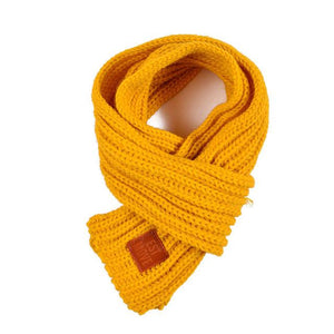 Soft Knitted Scarf in gold for Medium & Large Dogs