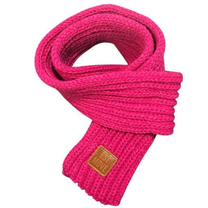 Soft Knitted Scarf in rose pink for Medium & Large Dogs