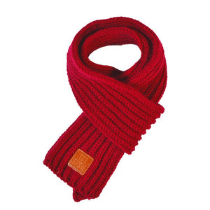 Soft Knitted Scarf in dark red for Medium & Large Dogs