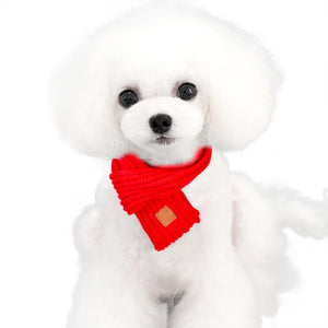 Soft Knitted Scarf in red for Medium & Large Dogs