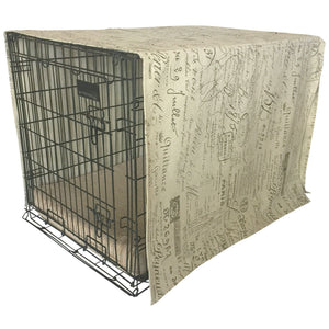 The Uppity Puppy Document Fossil Designer Dog Crate Cover - The Uppity Puppy