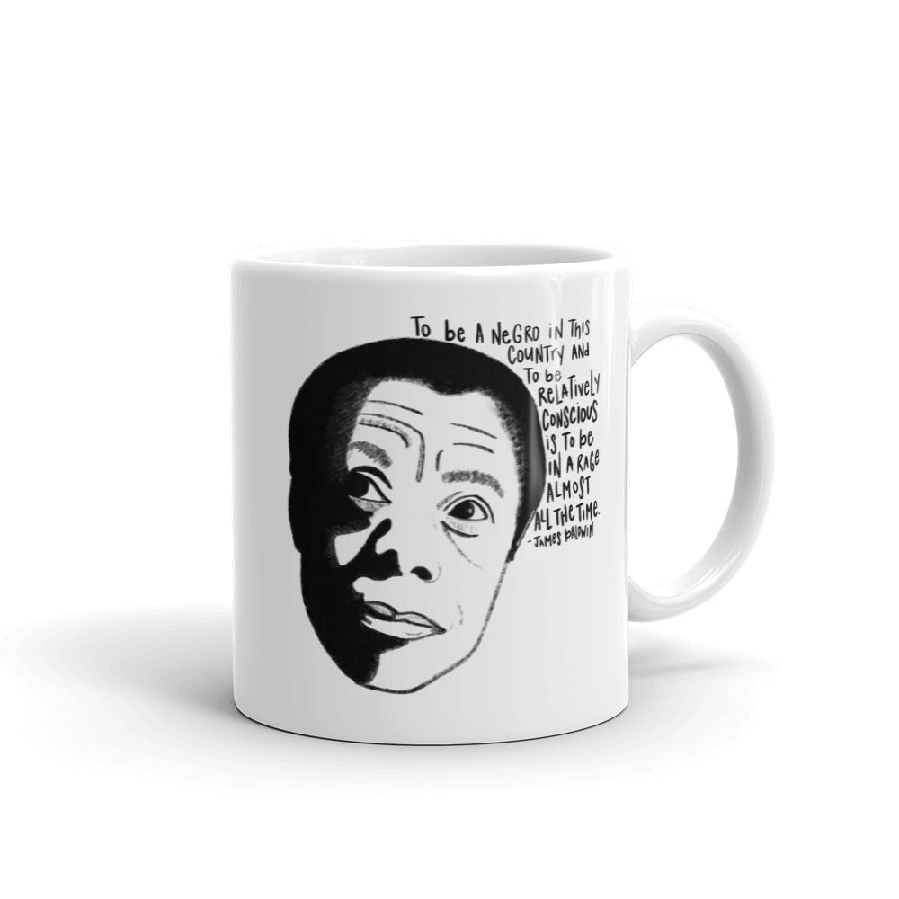 James Baldwin - Black and Conscious Mug