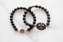 Load image into Gallery viewer, Fleur De Lis Bracelet Duo