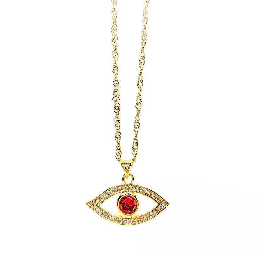Ruby Eye of the Tiger Necklace