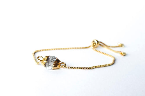 Herkimer Diamond Slider Bracelet