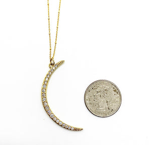 Crescent Moon Necklace $65.00