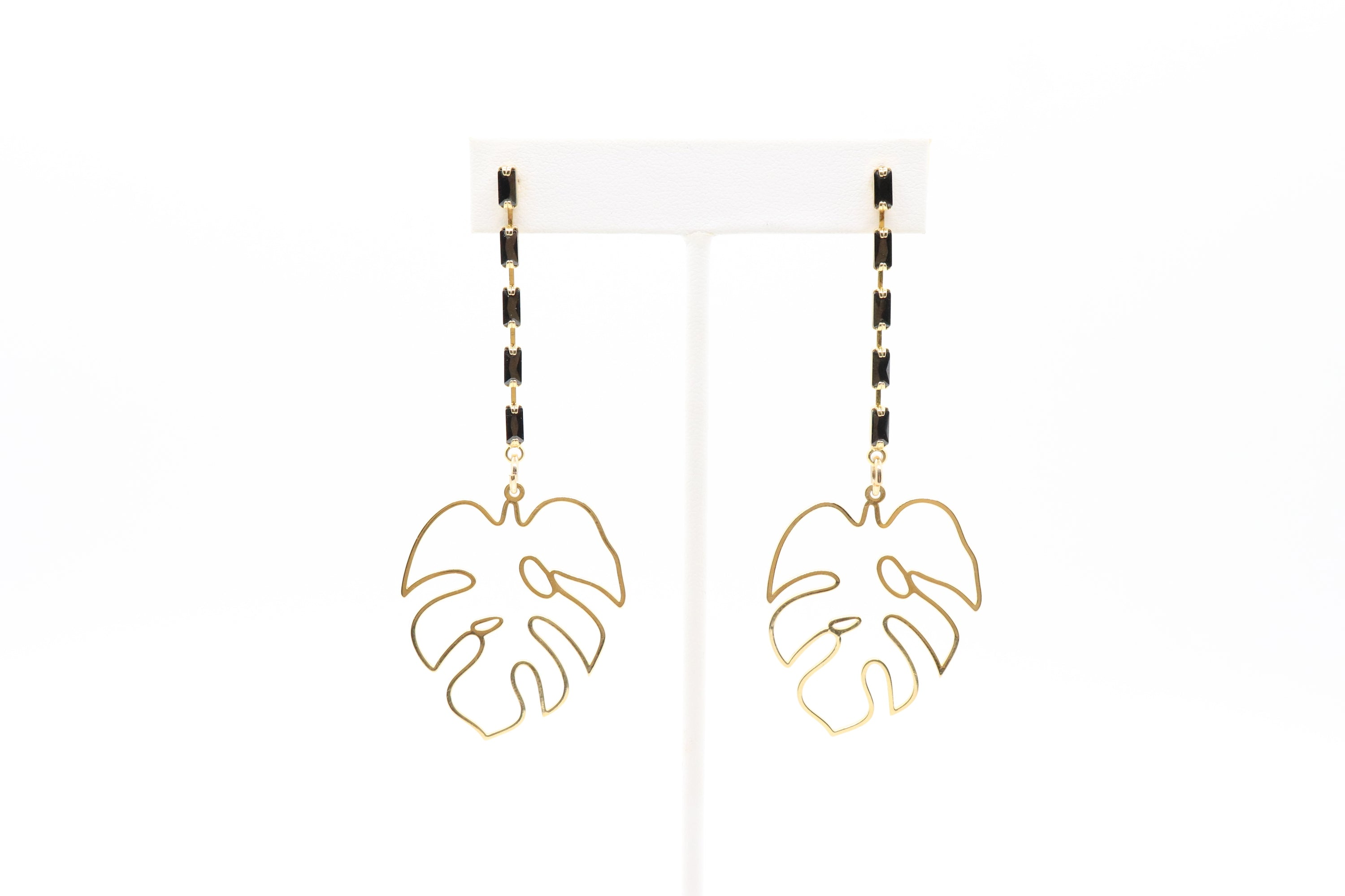 LUXE Monstera Strand Earrings