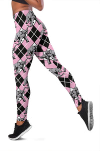Elephant Argyle Leggings