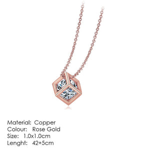 Rose Gold Pendant Necklace