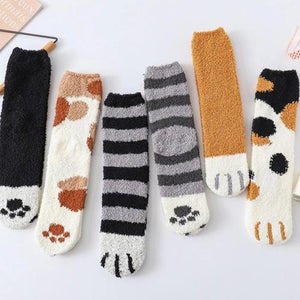 Winter Cat Claws Socks