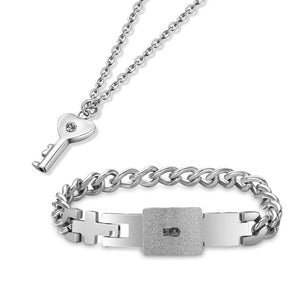 Love Lock Necklace & Bracelet