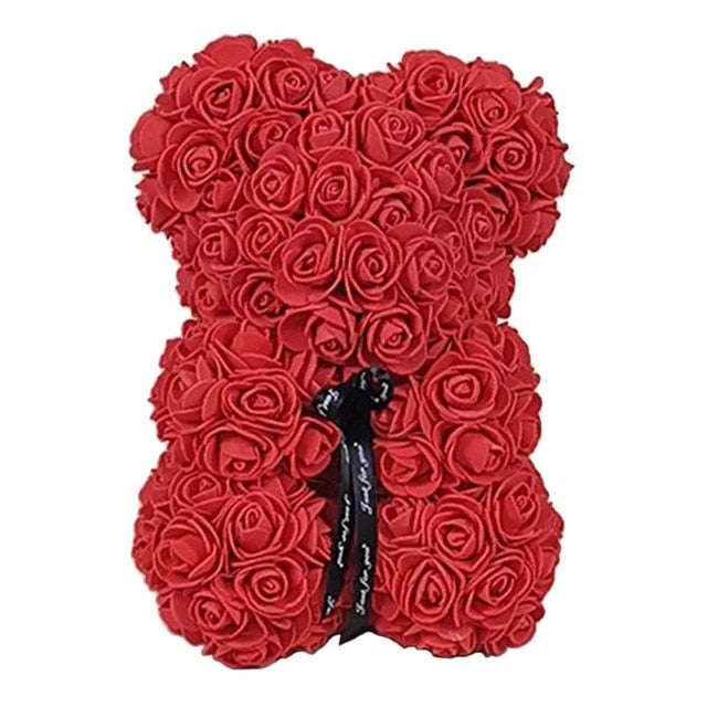 Valentines Day Rose Bear