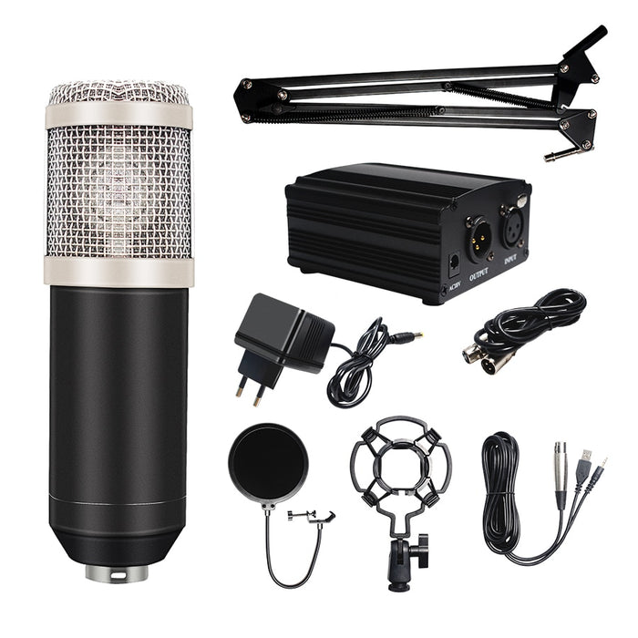 Microphone Condenser Pop Filter&Phantom Power