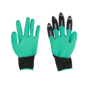 Hand  Plastic Garden Rubber Gloves