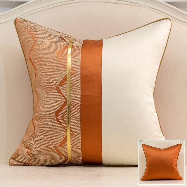 Geometric Stripe Cushion Covers