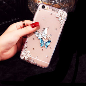 Butterfly Diamond Flower Case
