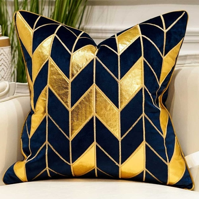 Luxury Blue Decorative Pillow Cases