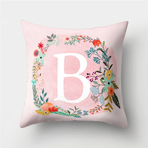 English Letter Cushion Cover
