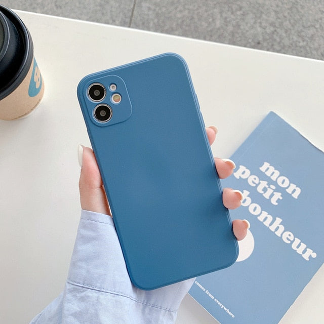Case Luxury Silicon Coque For iPhone 11