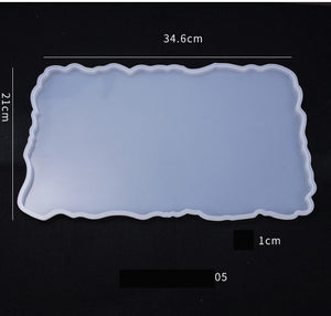 Rectangle Coaster Large Silicone Mold For DIY Making Tools Crystal Epoxy Tabletop Coaster Mold