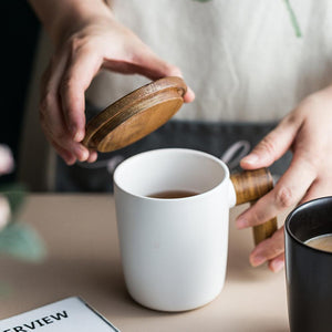 Coffee Cup  ( Wooden Handle)