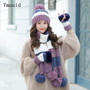 Winter Hats  Scarf Gloves Set