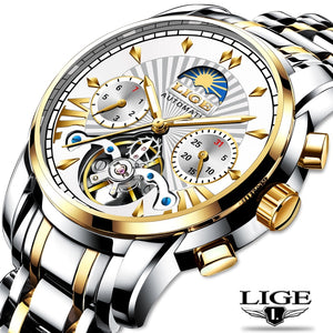 Lige Brand Mens Luxury Watch