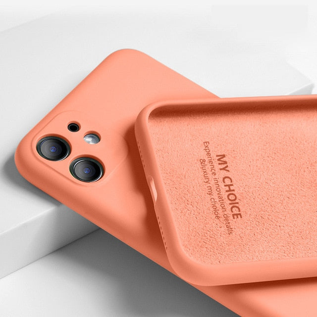 Silicone Full Protection Soft Cover For iPhone