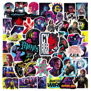 Cyberpunks 2077 Stickers for Laptop - PS5 -Luggage-books