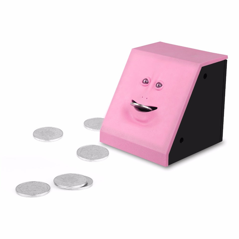 Face Money Eating Piggy Bank