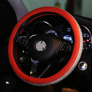 Luxury Crystal Car Steering Wheel Covers .