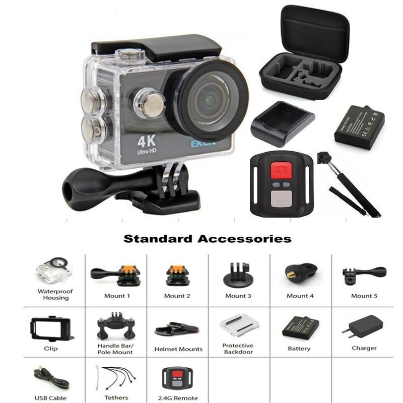 Action+Camera+16MP+Sony+Sensor+Vision+3+Underwater+Waterproof+Camera+170°+Wide+Angle+WiFi+Sports+Cam+with+Remote+2+Batteries+and+Mounting+Accessories+Kit