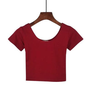 U neck Short Sleeve Top