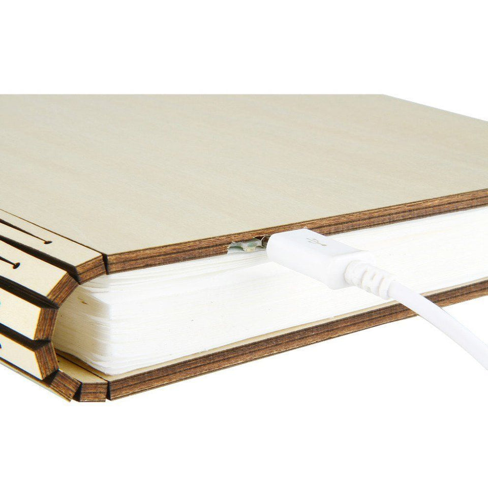 Fordable LED Wooden Book