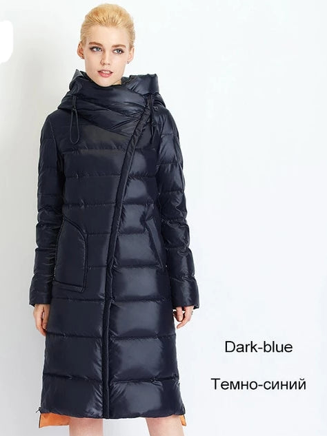 Fashionable Hooded Warm Parkas Bio Fluff Parka Coat