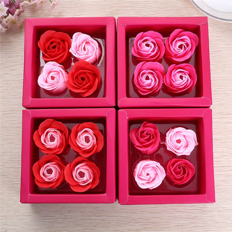 Simulation Rose Soap Flower With Ribbon