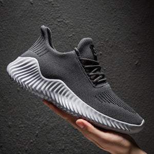 Mens Breathable Flyknit Sport Casual Sneaker Shoes