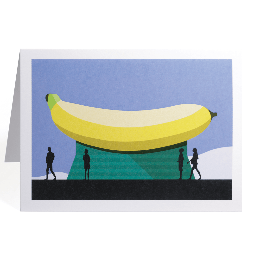 THE BIG BANANA GREETING CARD