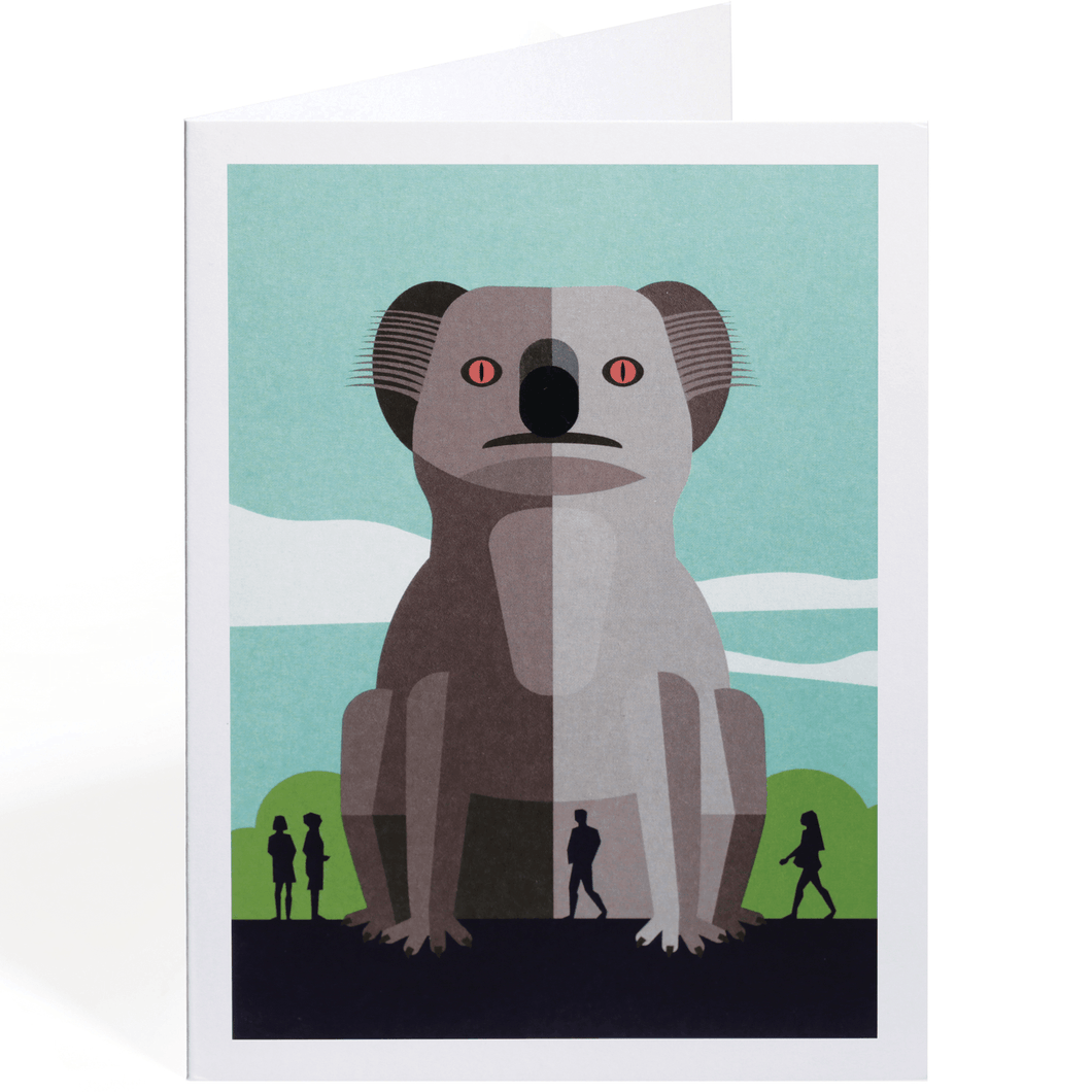 THE GIANT KOALA GREETING CARD