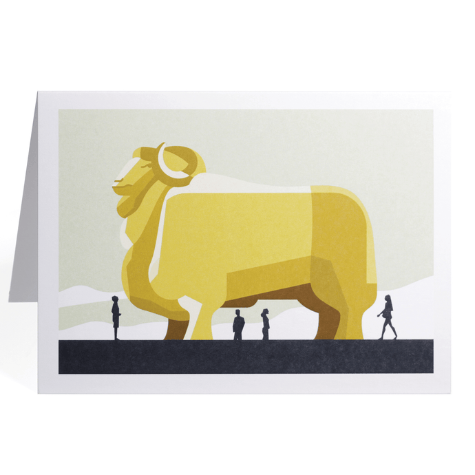 THE BIG MERINO GREETING CARD