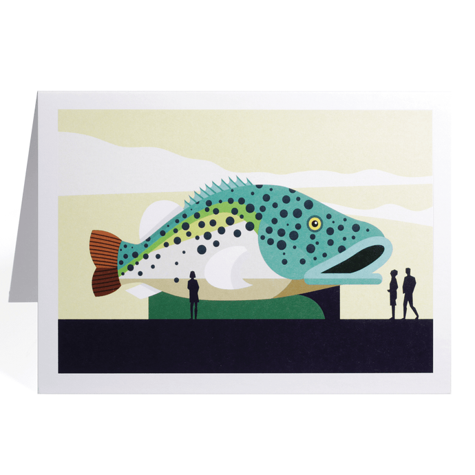 THE BIG MURRAY COD GREETING CARD