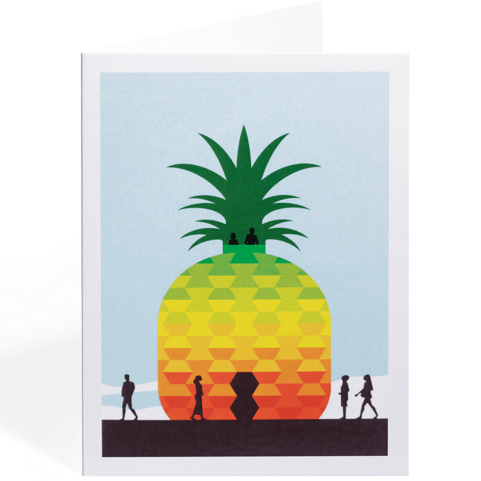 THE BIG PINEAPPLE GREETING CARD