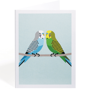 LOVE BUDGIES GREETING CARD